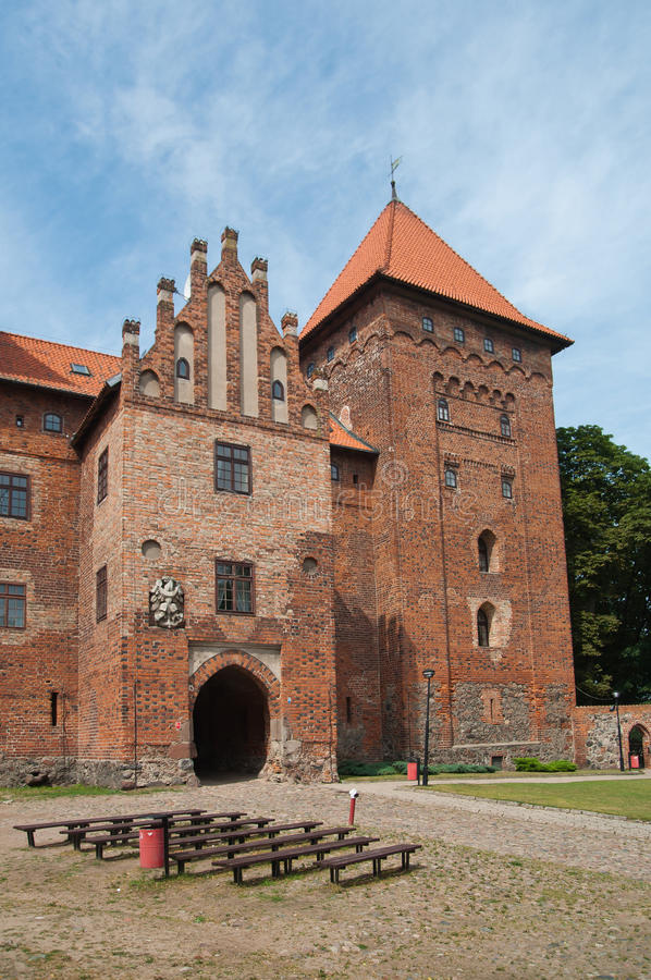 Castle in Nidzica Poland. Historic medieval castle in Nidzica Poland royalty free stock photos