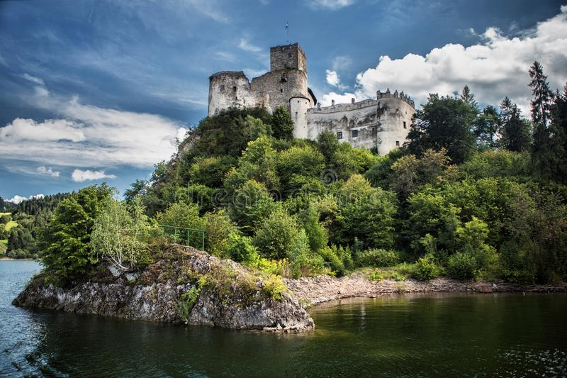 Castle Niedzica in Poland. Europe royalty free stock photos