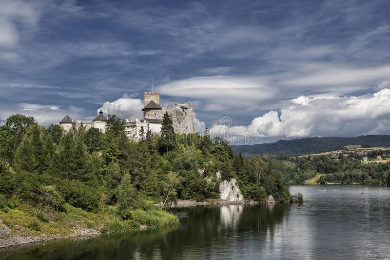 Castle Niedzica in Poland. Europe royalty free stock photography