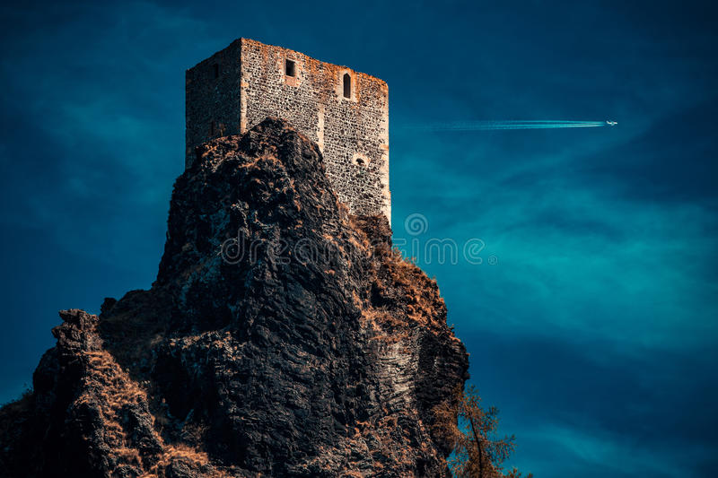 Castle at night royalty free stock photography