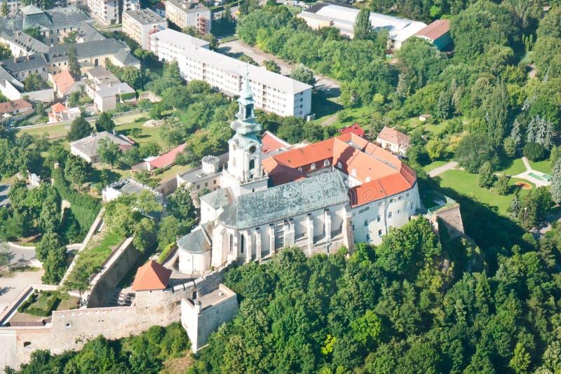 Castle in Nitra stock image