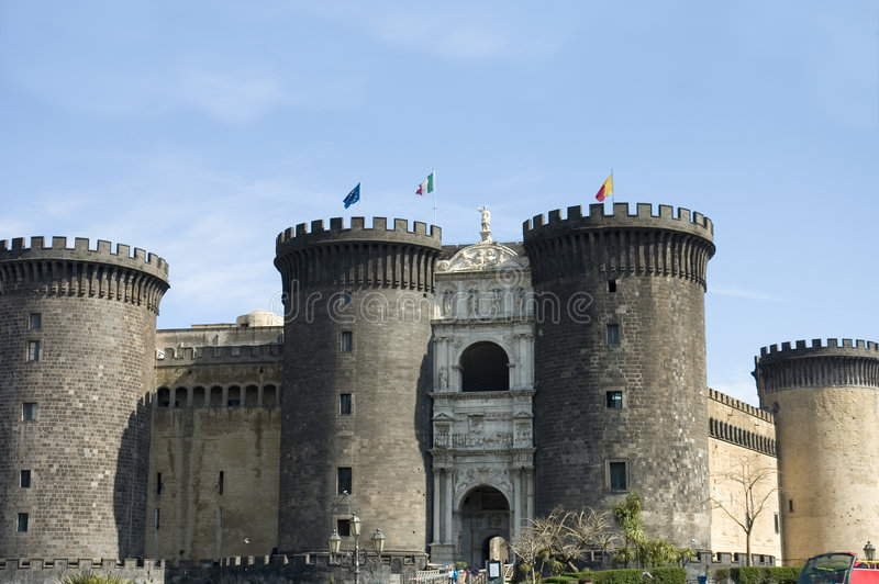 Download Castle Nuovo 2, Naples stock image. Image of naples, coast - 951241