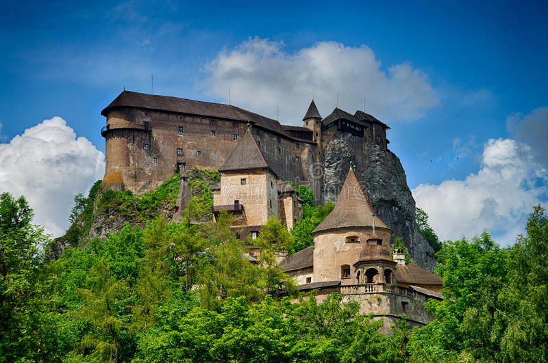 Castle of Orava. In Slovakia stock image