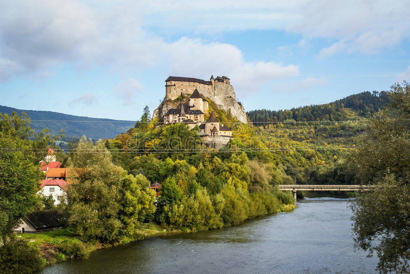 Castle in Orava, Slovakia. Image of a Castle in Orava, Slovakia royalty free stock images
