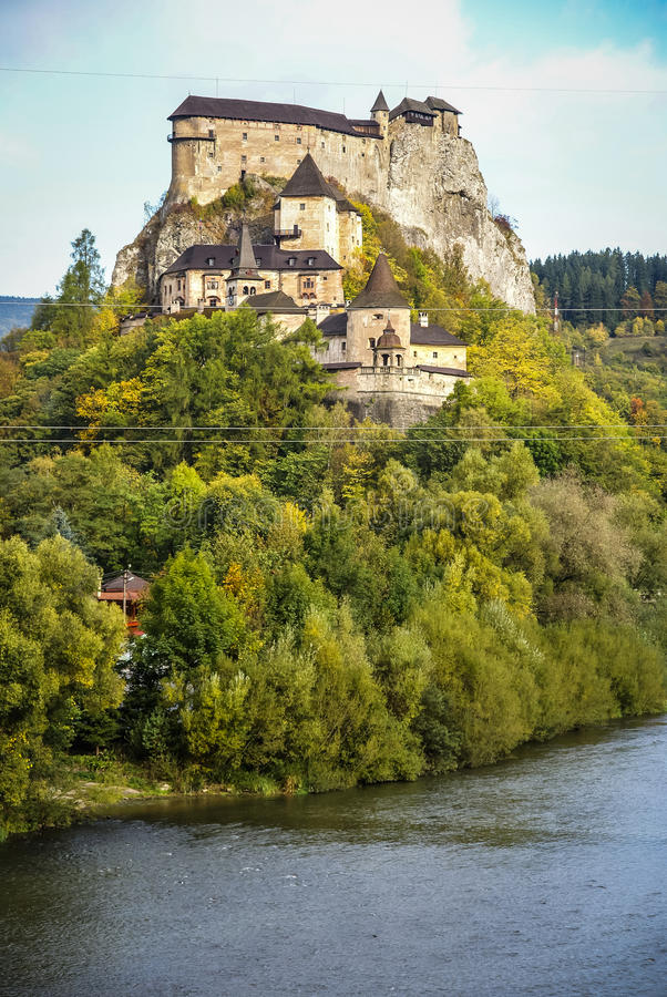 Castle in Orava, Slovakia royalty free stock photo