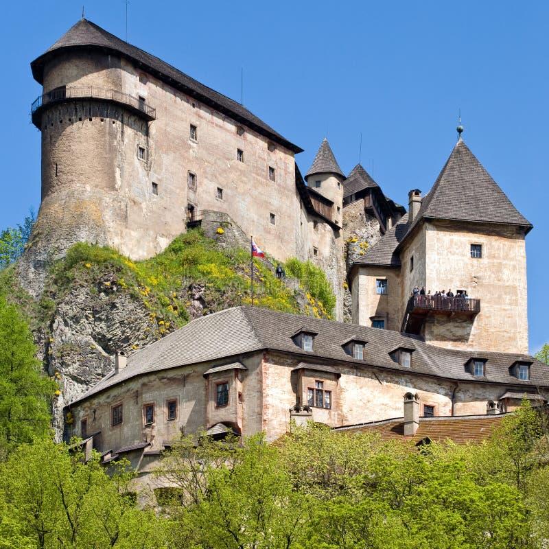Castle in Oravsky Podzamok, Slovakia. ORAVSKY PODZAMOK, SLOVAKIA - MAY 10, 2008: Most beautiful castle in Slovakia. Build in XIII century royalty free stock image
