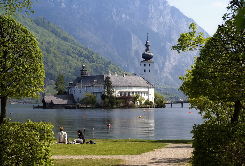 Download Castle Orth stock image. Image of relaxing, traunsee, footbridge - 2312303