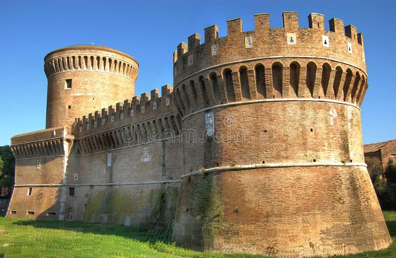 Castle - Ostia stock photography