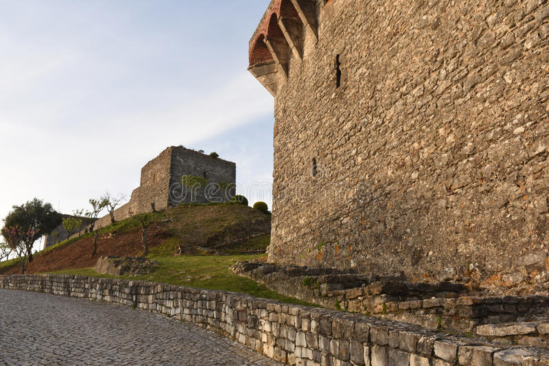 Castle of Ourem, Beiras region,. Portugal stock images