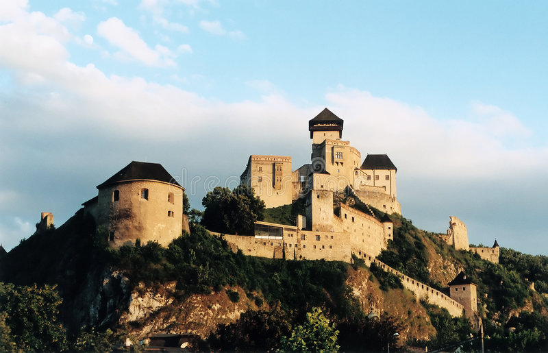 Castle over the Hill royalty free stock photography