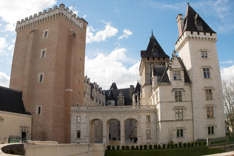 Castle of Pau, in Pyrenees Atlantiques, France royalty free stock images