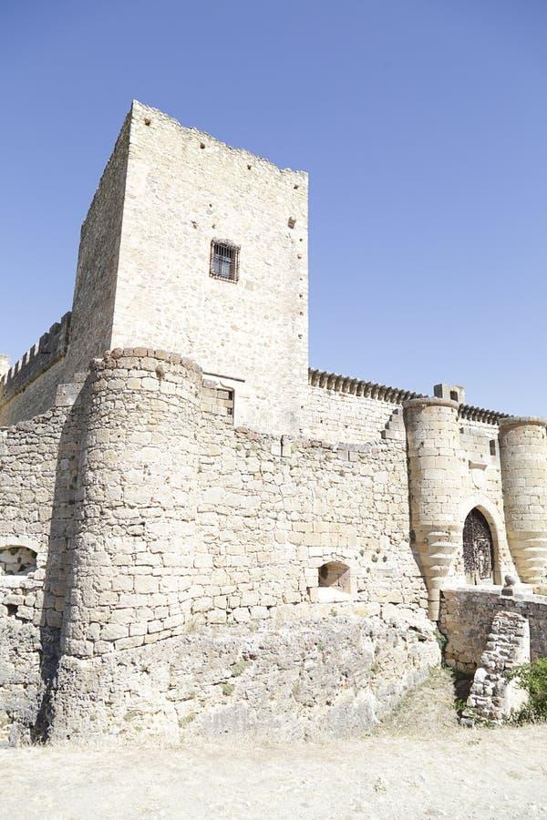 Castle Pedraza Segovia, της Καστίλλης και του Leon, Ισπανία στοκ εικόνες με δικαίωμα ελεύθερης χρήσης