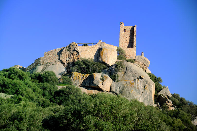 Castle of Pedres stock photography