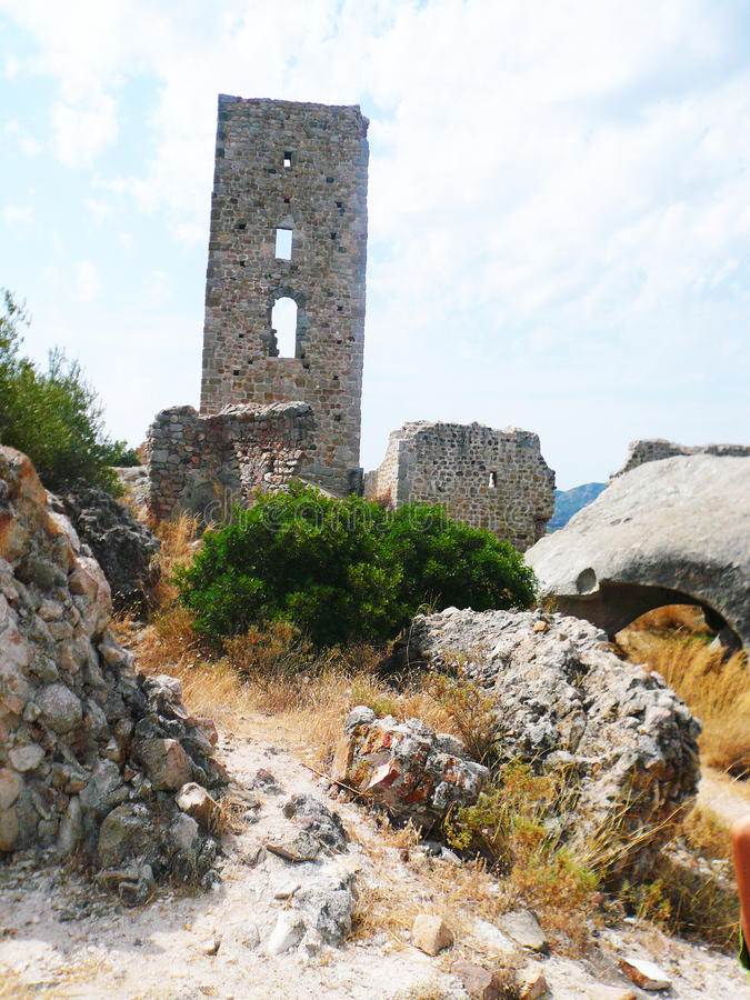 Castle of Pedres summer 2013 royalty free stock image