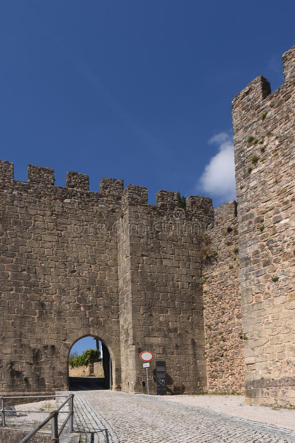 Castle of Penela, Beiras region,. Portugal royalty free stock image