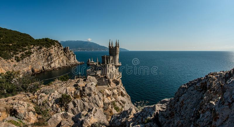 Castle on peninsula Crimea. Horizontal photo royalty free stock image