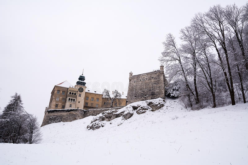 Castle in Pieskowa Skala (Poland) royalty free stock images