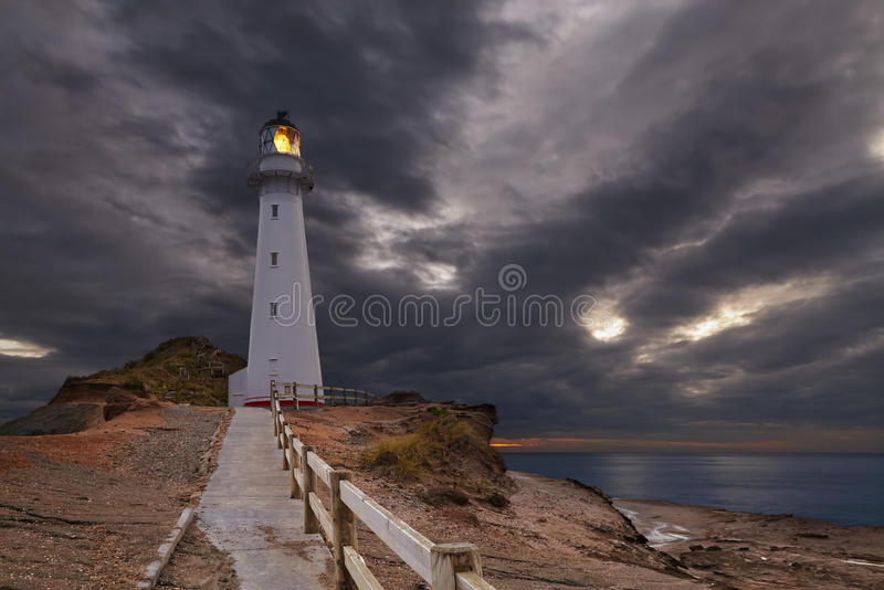 Castle Point Lighthouse royalty free stock photo
