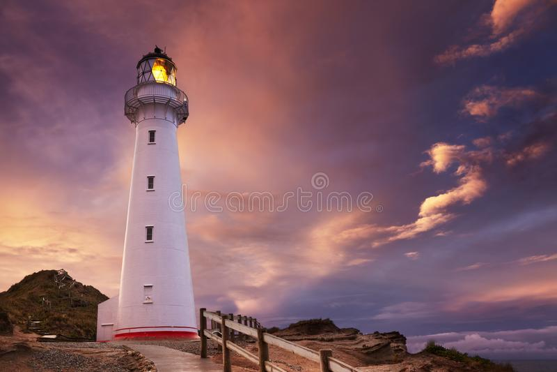 Castle Point Lighthouse stock photography