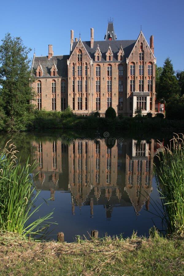 Castle pond stock photo