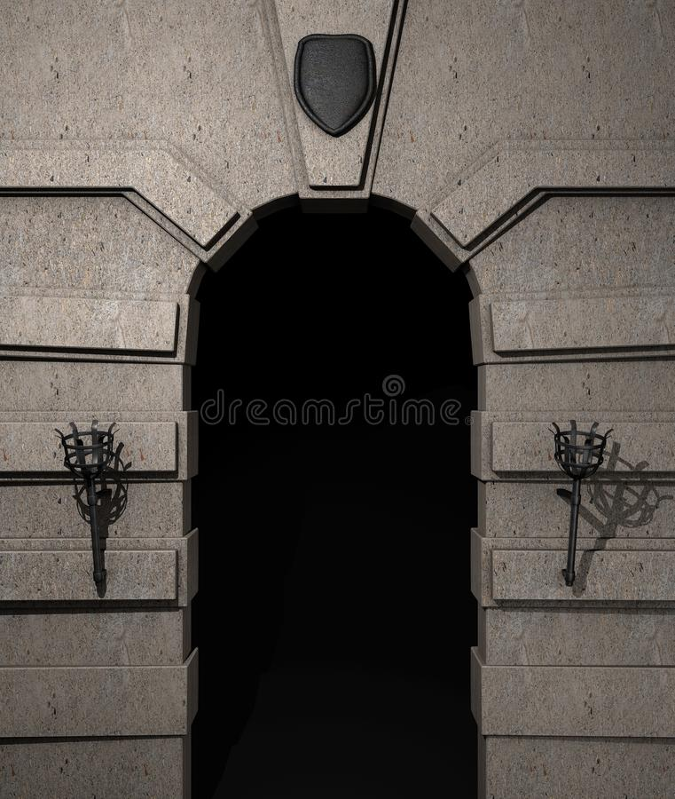 Download Castle portal stock photo. Image of gate, gloomy, entry - 21656026