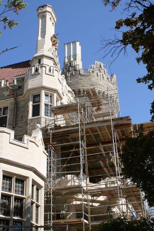 Castle restoration stock photo