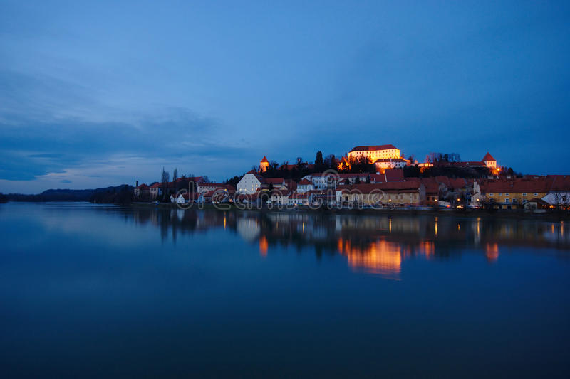 Download Castle By The River At Blue Hour Stock Photo - Image: 37406120