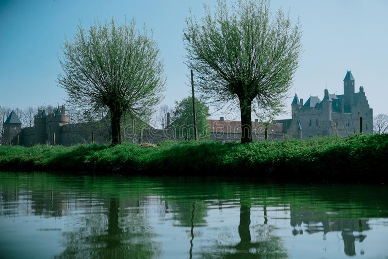Castle by the river royalty free stock photography
