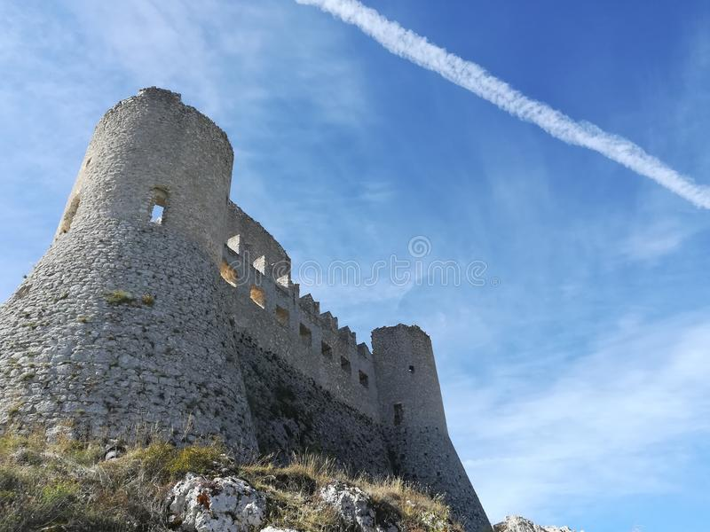 Castle of Rocca calascio royalty free stock images