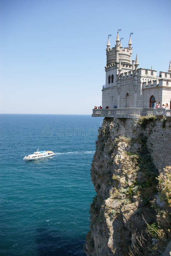 Free Castle, Rock, Ship And Sea Stock Images - 2246024