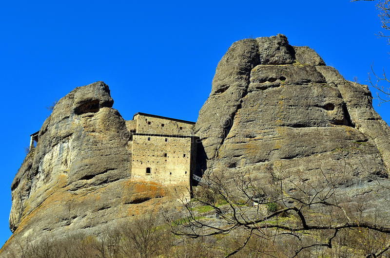 Castle Rock, vobbia, Genova immagini stock libere da diritti