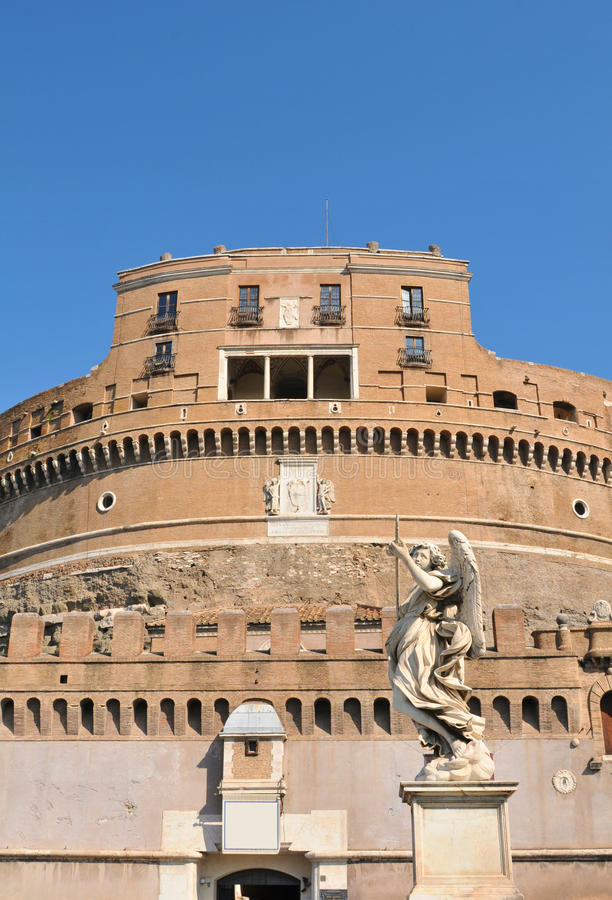 Castle in Rome, Italy stock photography