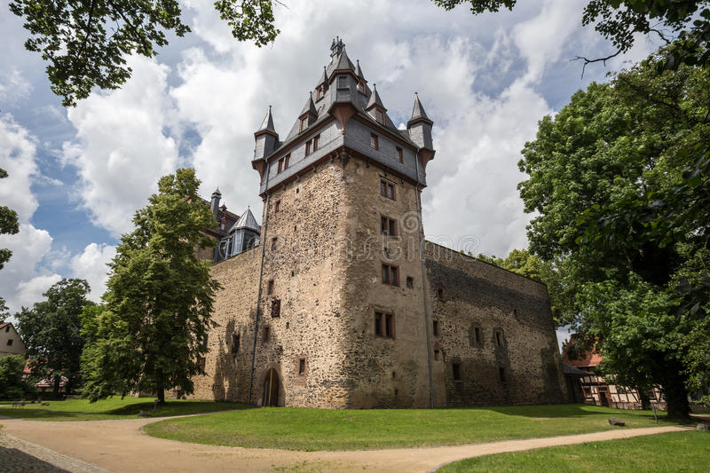 Castle romrod hessen germany stock photo