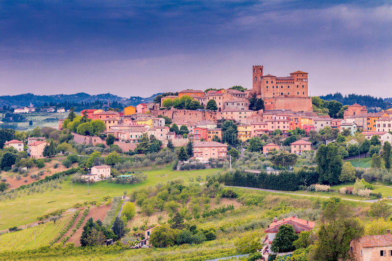 Download Castle and roofs stock photo. Image of brighten, colored - 71625800