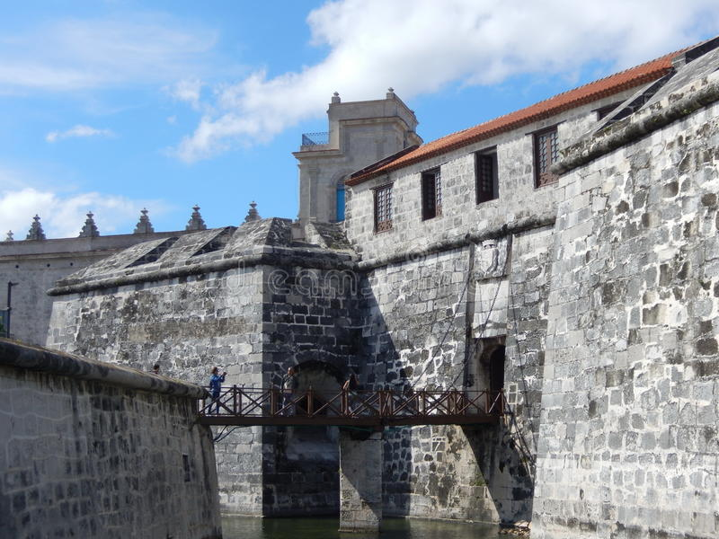 CASTLE OF THE ROYAL FORCE, HAVANA, CUBA stock images