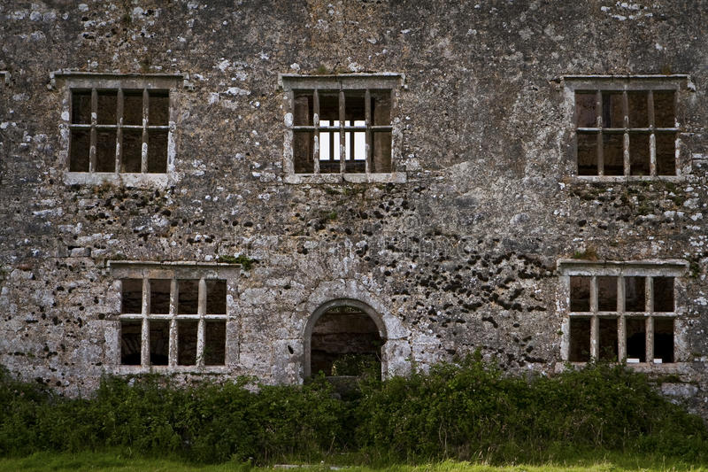 Castle ruin. On western Ireland royalty free stock photo
