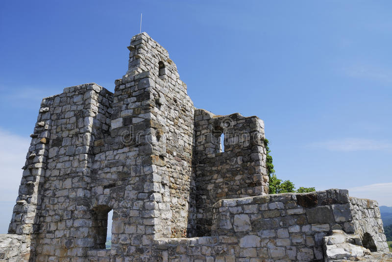 Castle ruin. Of Staufen (Breisgau, Germany royalty free stock images