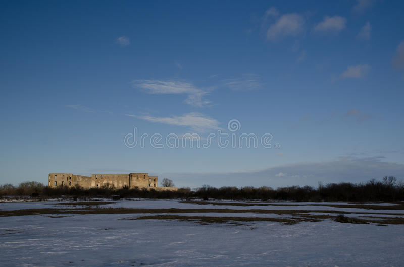 Castle ruin royalty free stock images