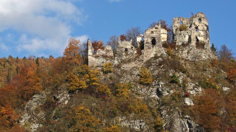 Castle ruins , Starhrad , Slovakia royalty free stock photo