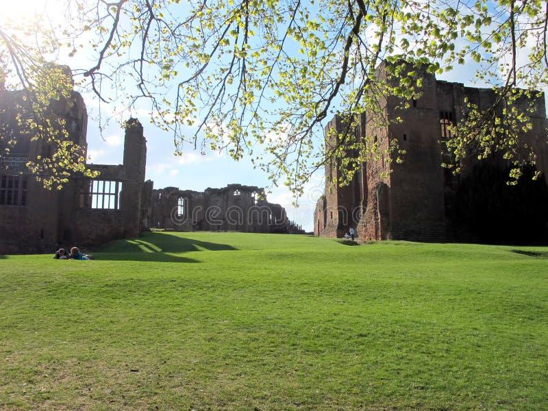 Castle ruins, Kenilworth, Warwickshire. stock image