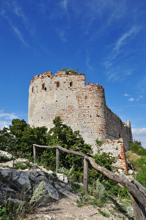 Castle ruins and sky royalty free stock image