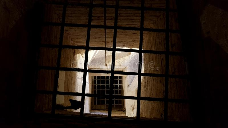 Castle rusted jail view stock image  Image of ancient - 122439391