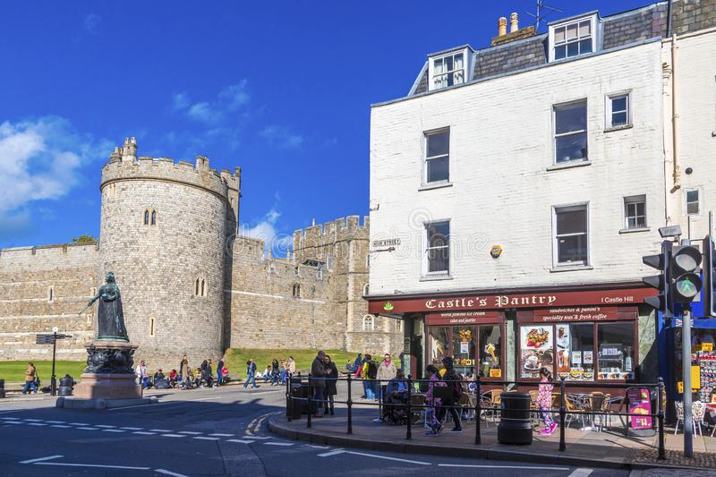 Castle`s Pantry by Windsor Castle. WINDSOR, UK - October 1, 2016: Windsor Castle is a royal residence at Windsor in the English county of Berkshire. The town of royalty free stock images