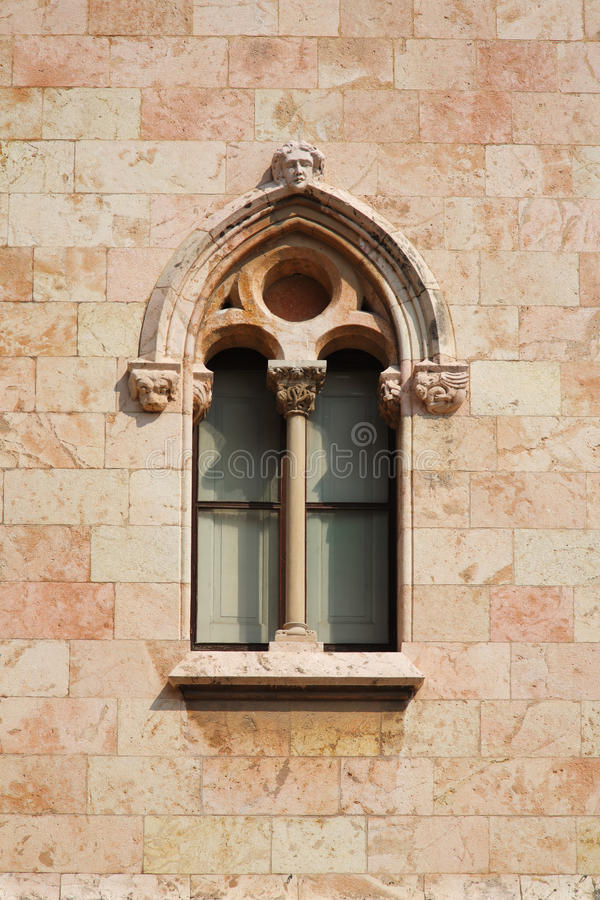 Download Castle's Window At The Wall Stock Photo - Image: 25952344