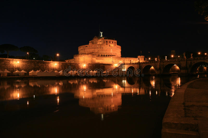 Download Castle Saint Angel By Night, Rome, Italy Stock Photo - Image: 12389066