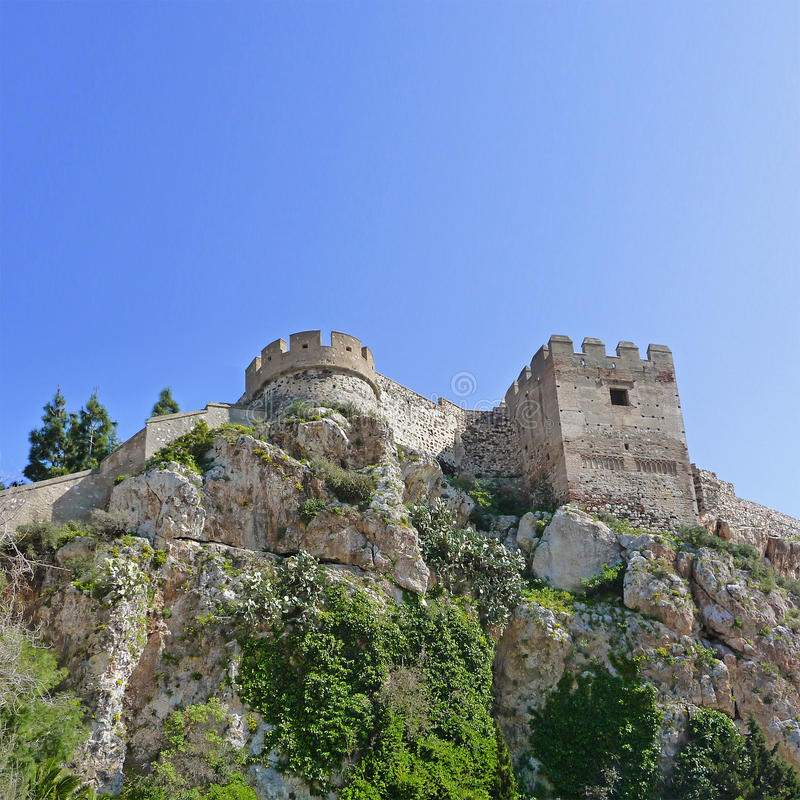 Castle In Salobrena Andalusia Spain Stock Photos