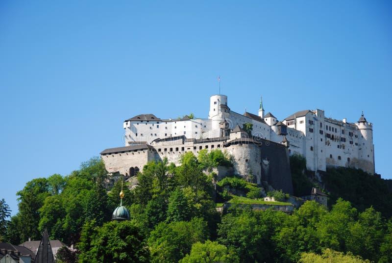 Castle in Salzburg. Castle Hohensalzburg in Salzburg, Austria royalty free stock images