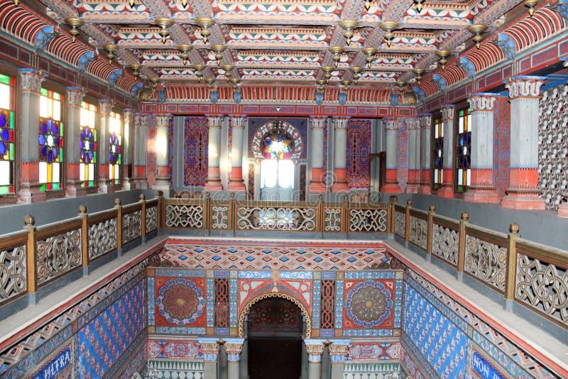 Castle Sammezzano, living room royalty free stock images