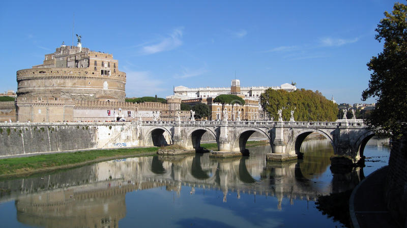 Castle San Angelo Rome stock images