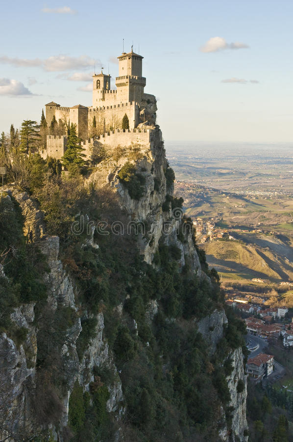 Download Castle of San Marino stock photo. Image of europe, ledge - 17781220